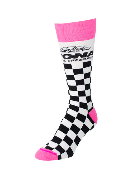 Ladies Daytona International Speedway Checkered Socks