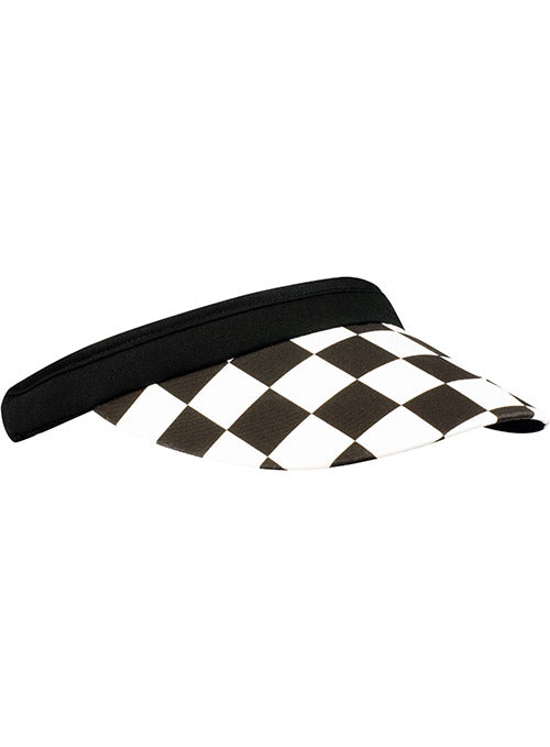 Ladies Daytona International Speedway Checkered Clip On Visor