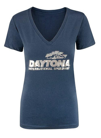 Ladies Daytona International Speedway V-Neck T-Shirt