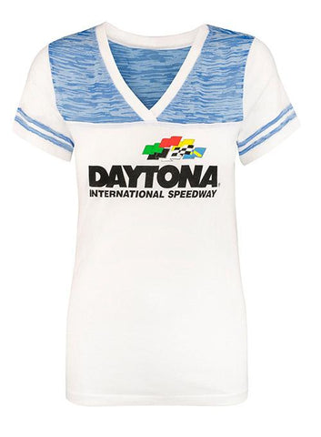 Ladies 2019 Daytona 500 Logo V-Neck T-Shirt