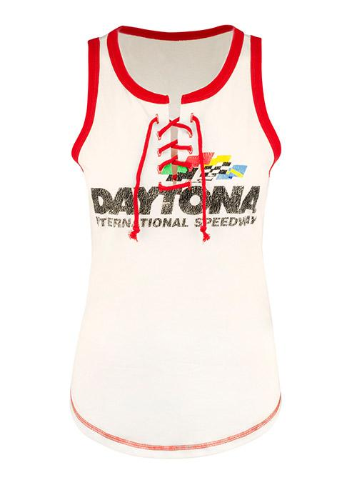 Ladies Daytona International Speedway Lace Up Tank