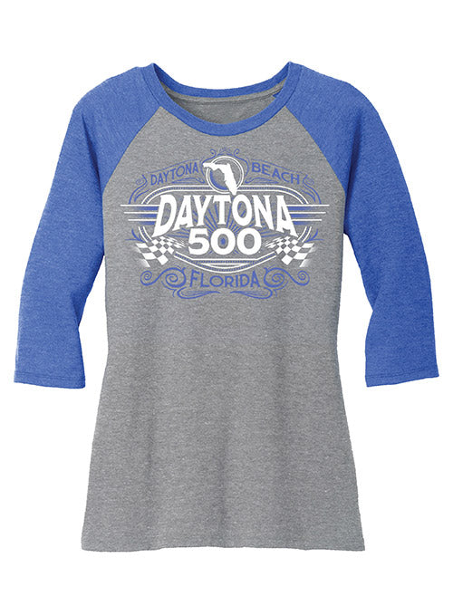 Ladies 2021 DAYTONA 500 3/4 Sleeve T-Shirt