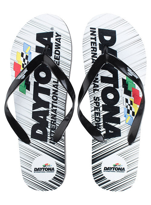 Daytona International Speedway Stripe Flip Flops