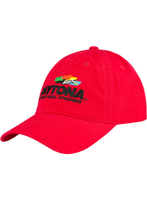 Daytona International Speedway Red Unstructred Hat