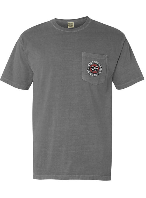 Daytona International Speedway World Famous Speedway Pocket T-Shirt