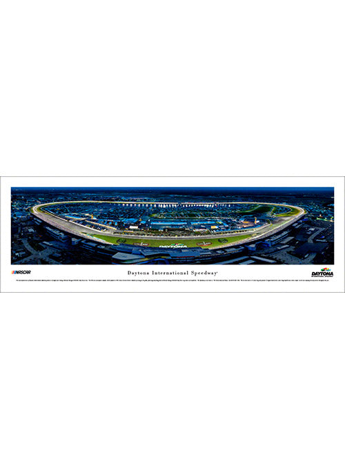 Daytona International Speedway Unframed Night Panoramic Photo
