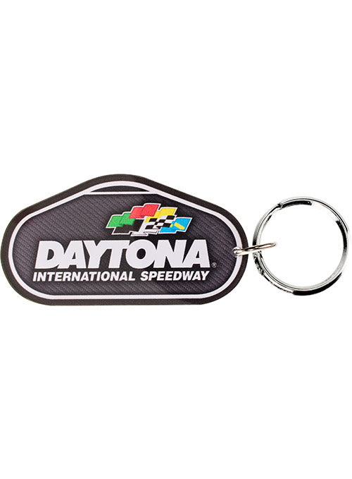 Daytona International Speedway Track Outline Keychain