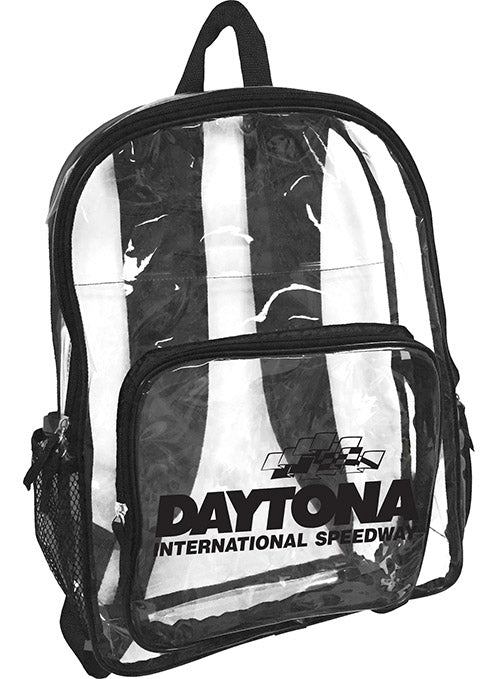 Daytona Internaional Speedway Clear/Black Backpack