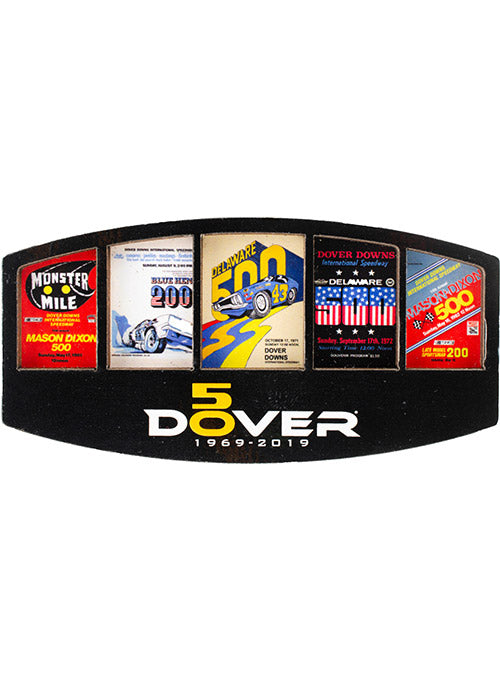 Dover International Speedway 50th Anniversary Wood Magnet