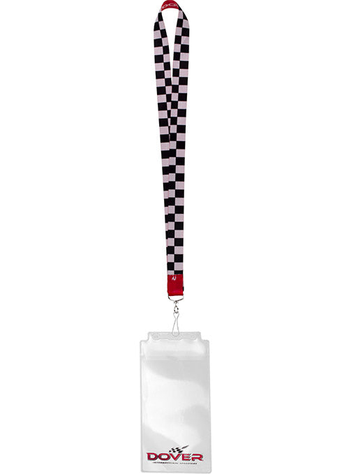 Dover International Speedway Checkered Credential Holder