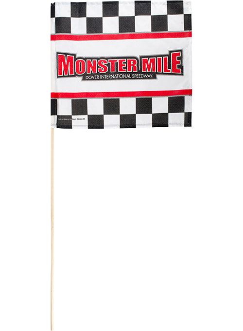 Dover International Speedway Monster Mile Checkered Stick Flag