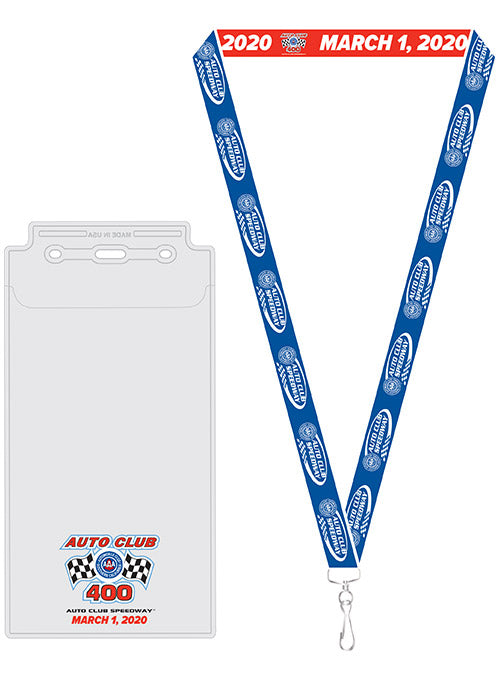 2020 Auto Club 400 Credential Holder