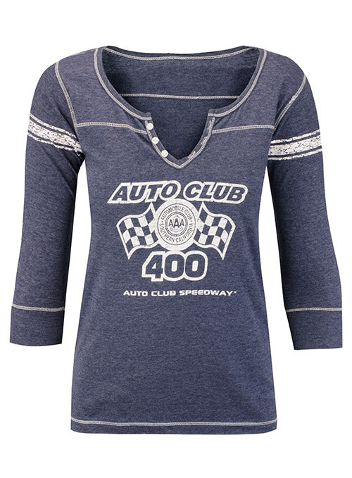Ladies 2019 Auto Club Speedway Event 3/4 Sleeve T-Shirt