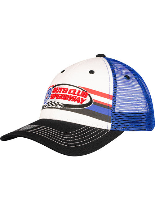 Auto Club Speedway Striped Trucker Hat
