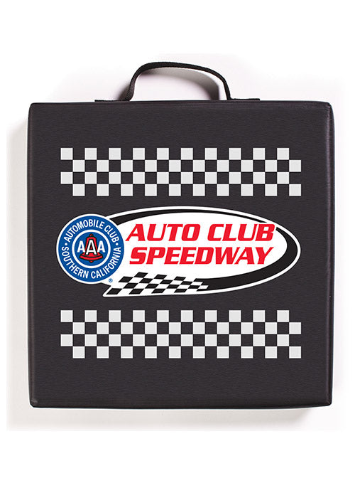 Auto Club Speedway Checkered Seat Cushion