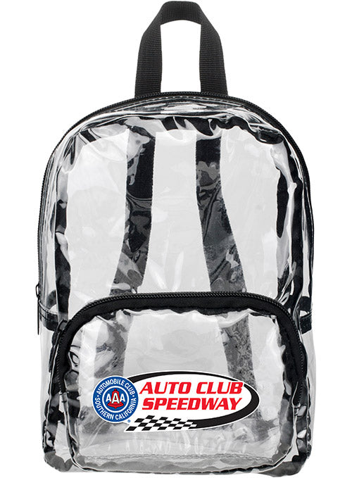Auto Club Speedway MINI Clear Backpack