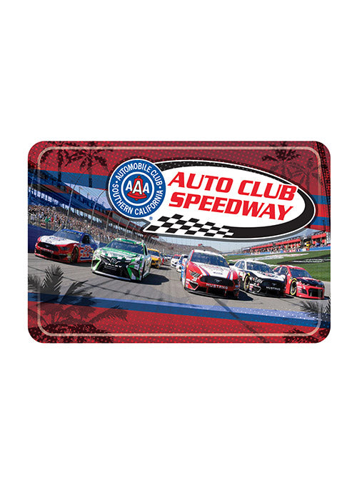 Auto Club Speedway Car Photo Button Magnet