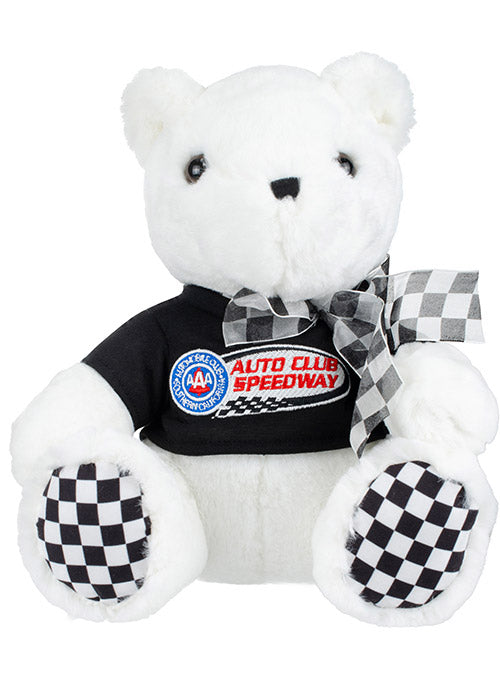 Auto Club Speedway Checkered Paw Teddy Bear