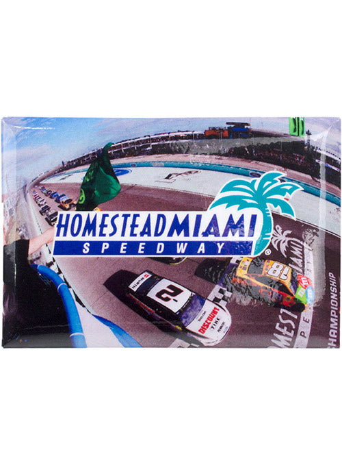 Homestead-Miami Speedway Photo Button Magnet