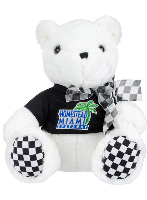 Homestead-Miami Speedway Checkered Paw Teddy Bear