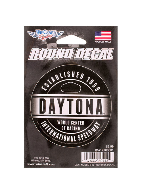 Daytona International Speedway Round Decal