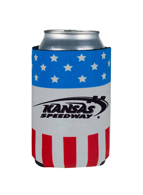 Kansas Speedway Patriotic Can Cooler