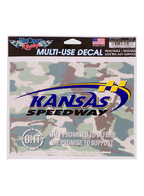 Kansas Speedway OHT Military Camo Decal