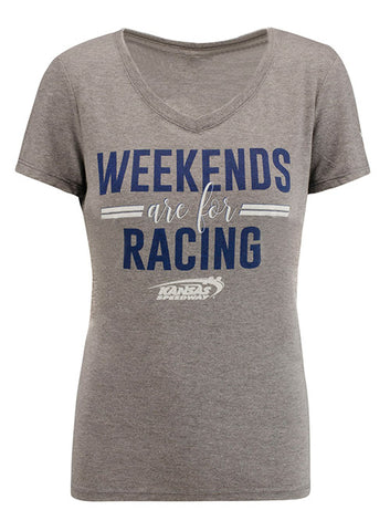 Ladies Daytona International Speedway Lace Up 3/4 Sleeve T-Shirt