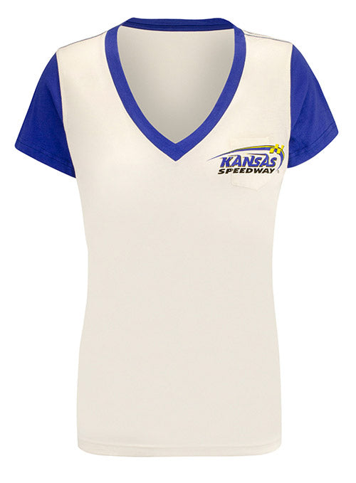 Ladies Kansas Speedway Pocket V-Neck T-Shirt