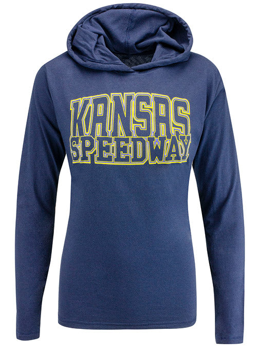 Ladies Kansas Speedway Long Sleeve Hoodie Shirt