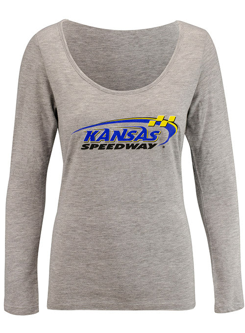 Ladies Kansas Speedway Long Sleeve T-Shirt
