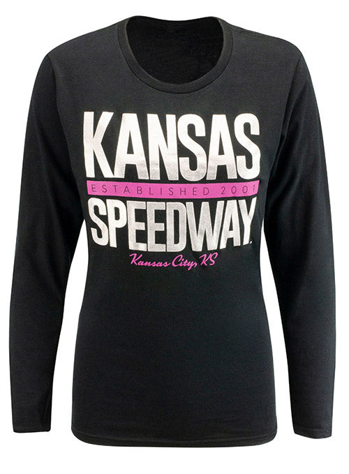 Ladies Kansas Speedway Metallic T-Shirt