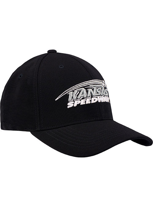 Kansas Speedway Black Tonal Flex Fit Hat