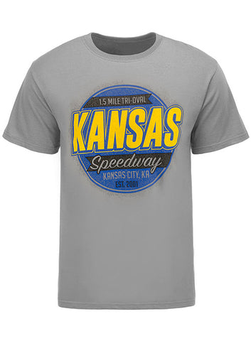 Ladies Kansas Speedway Patriotic Heart T-Shirt