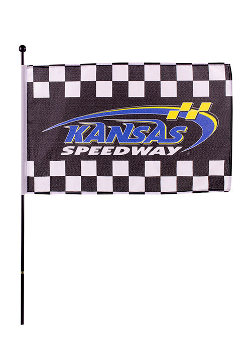 Kansas Speedway Checkered Stick Flag