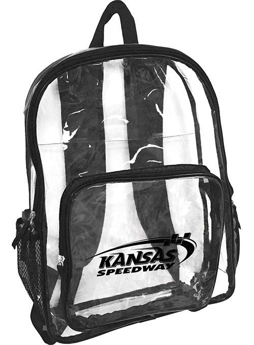 Kansas Speedway Clear Backpack