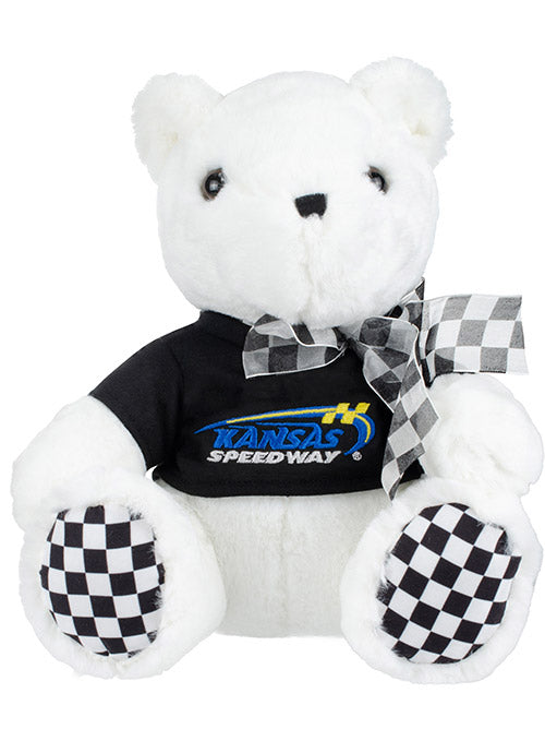 Kansas Speedway Checkered Paw Teddy Bear