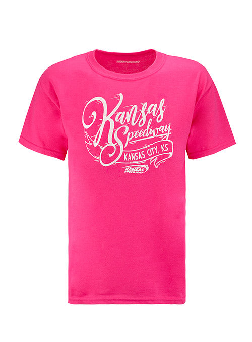 Youth Girls Kansas Speedway Script T-Shirt
