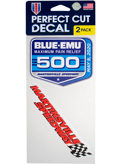 2020 Blue Emu 500 at Martinsville Layered 2-Pack Decal