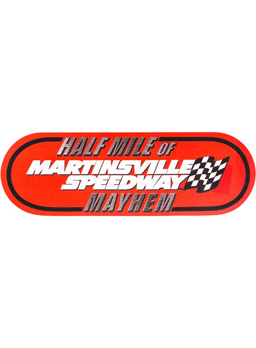 "Martinsville Speedway Half Mile of Mayhem 3""x10"" Decal"
