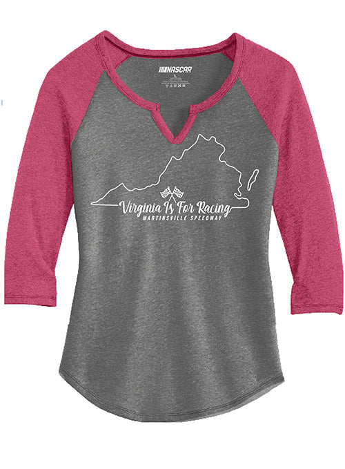 Ladies Virginia Is For Racing State Outline T-Shirt