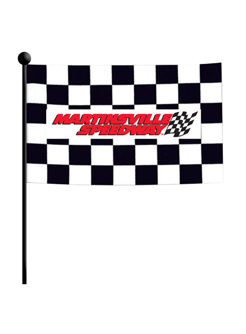 Martinsville Speedway Checkered Stick Flag