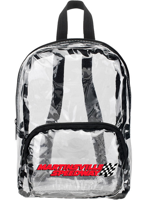 Martinsville Speedway MINI Clear Backpack