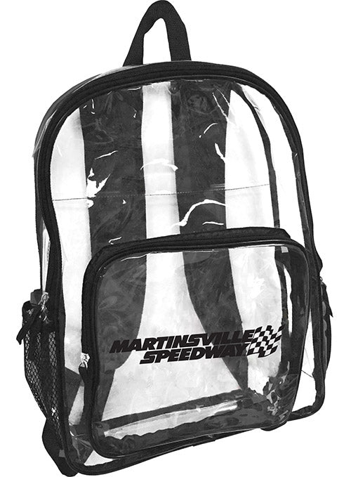 Martinsville Speedway Clear Backpack