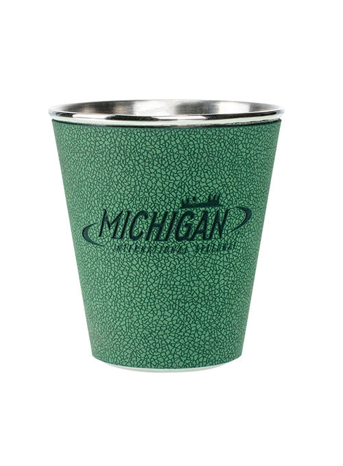 Michigan International Speedway Leather Shot Glass
