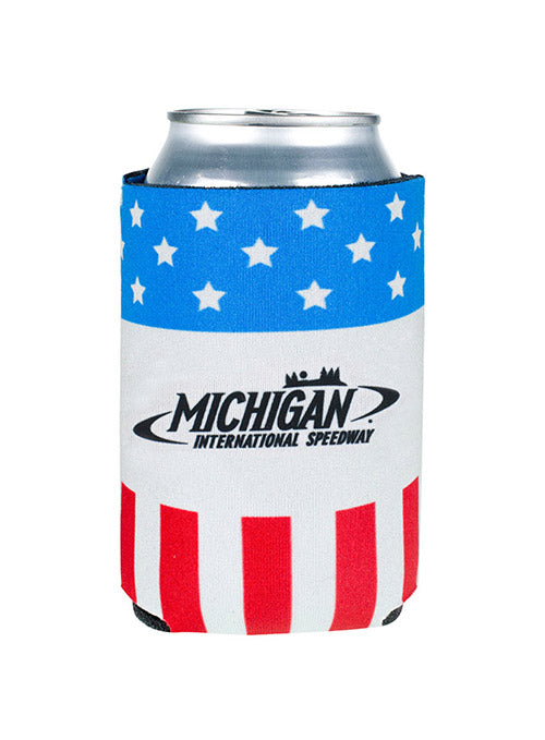 Michigan International Speedway Patriotic Can Cooler