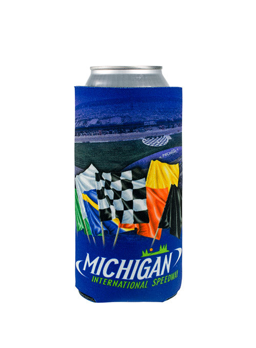 Michigan International Speedway Racing Flag 20oz Can Cooler
