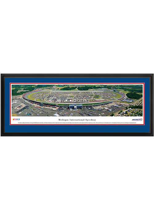 Michigan International Speedway Deluxe Frame Panoramic Photo