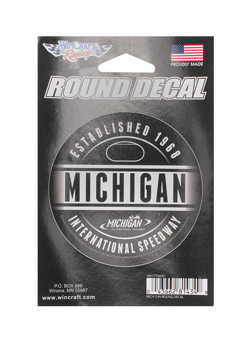 Michigan International Speedway Round Decal
