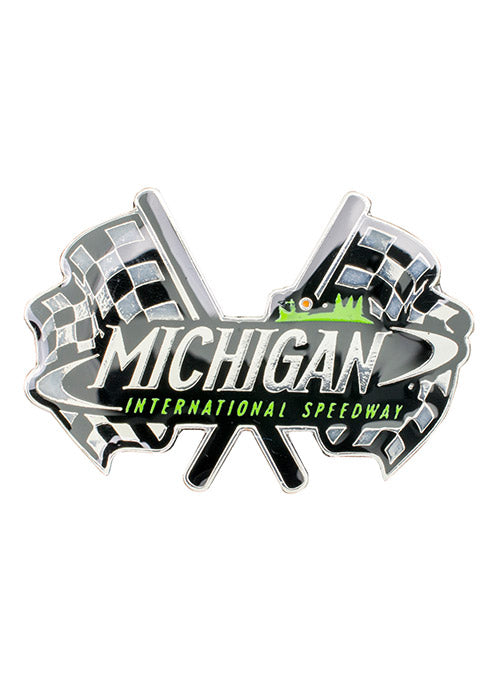 Michigan International Speedway Dual Flags Hatpin